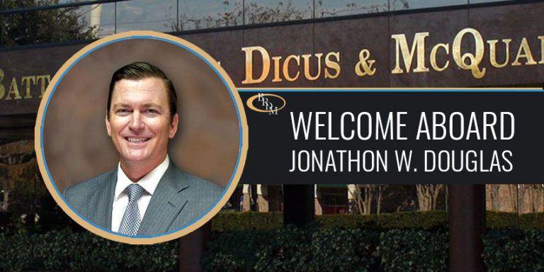 Battaglia, Ross, Dicus & McQuaid, P.A. Announces New Partner Jonathon W. Douglas