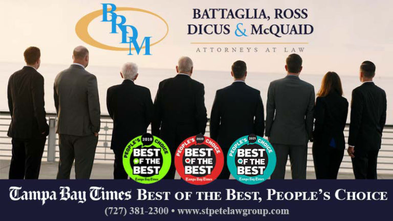 Battaglia, Ross, Dicus & McQuaid, P.A. Wins Best Law Firm for the Third Year in a Row
