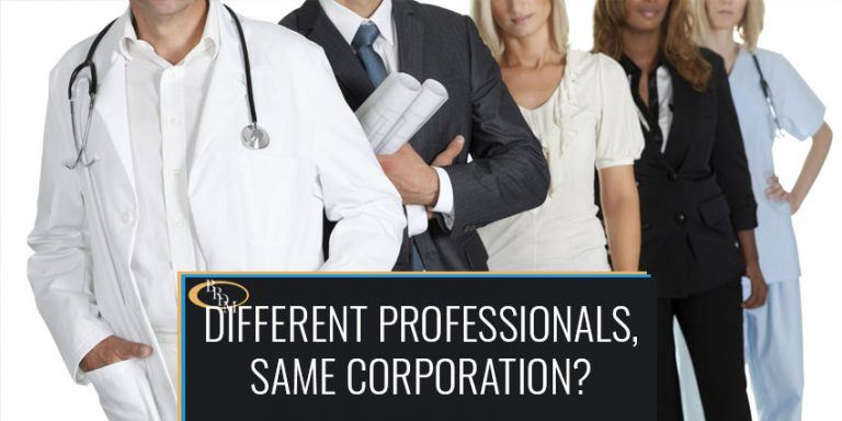 CAN DIFFERENTLY LICENSED PROFESSIONALS CO-EXIST IN THE SAME PROFESSIONAL CORPORATION?