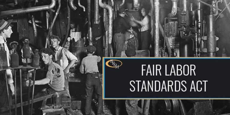 General Provisions Under the Fair Labor Standards Act