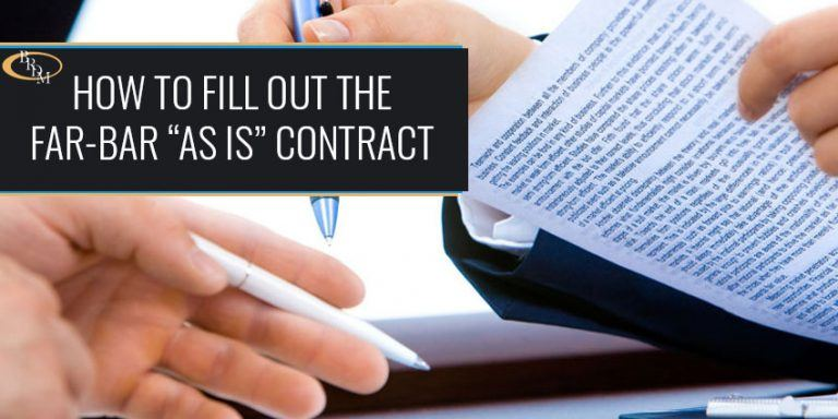 """HOW TO FILL OUT THE FAR-BAR """"AS IS"""" RESIDENTIAL CONTRACT FOR SALE AND PURCHASE"""