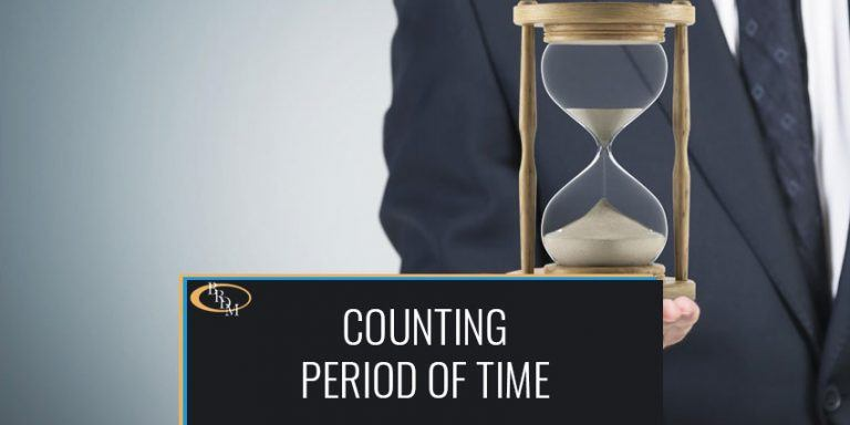 How a Period of Time Should Be Counted