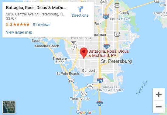 Battaglia, Ross, Dicus & McQuiad, P.A. Map